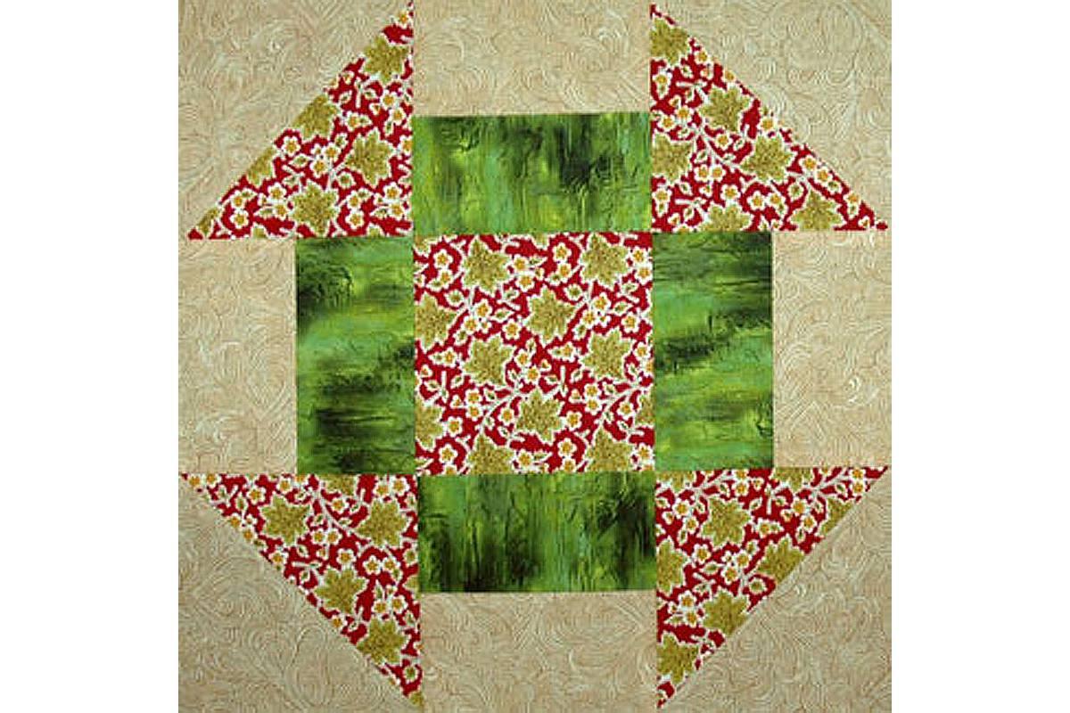 Easy 12 Churn Dash Quilt Block Pattern