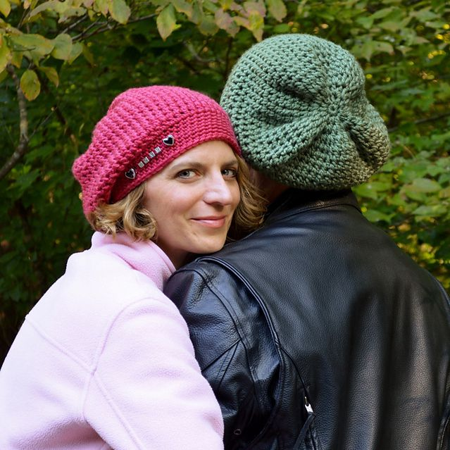 Big Kahuna, Unisex Slouch Hat for the Entire Family Crochet