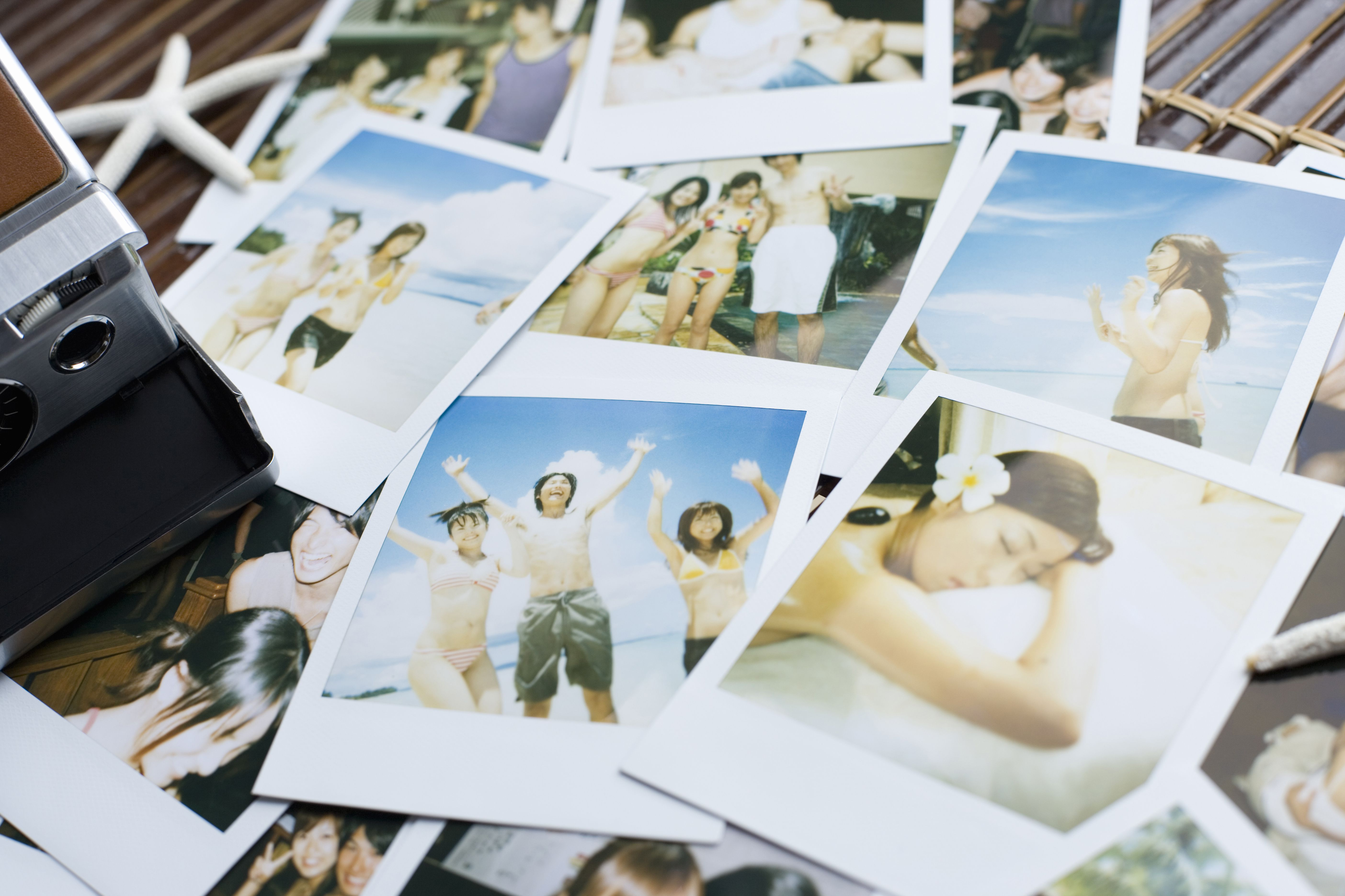 Stack of photographs, taken for vacation, Saipan