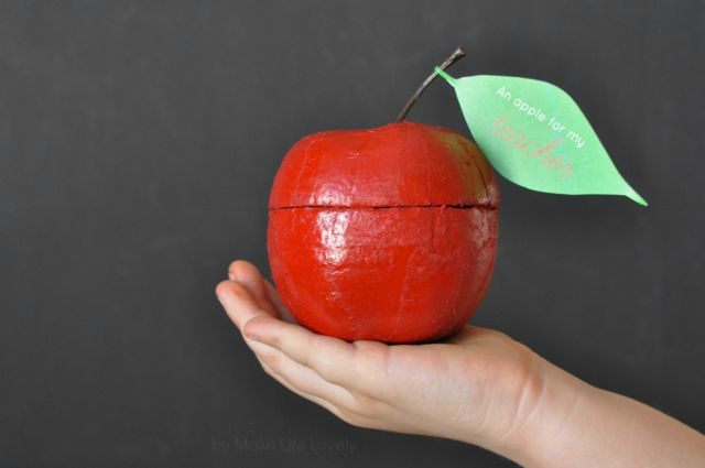 DIY Apple Candy Container