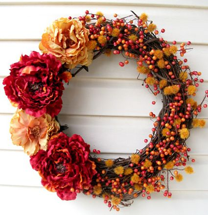 DIY Fall Wreath with Berries