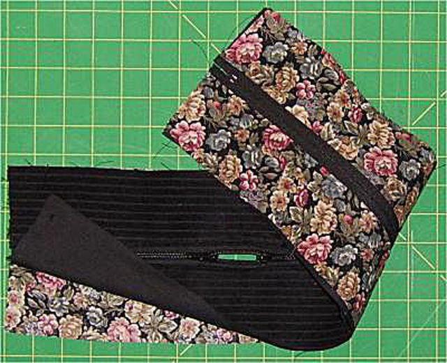 Sewn zipper section