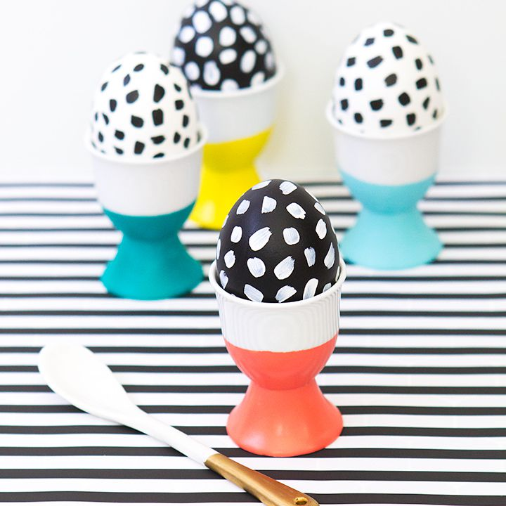 DIY Spotted Easter Eggs