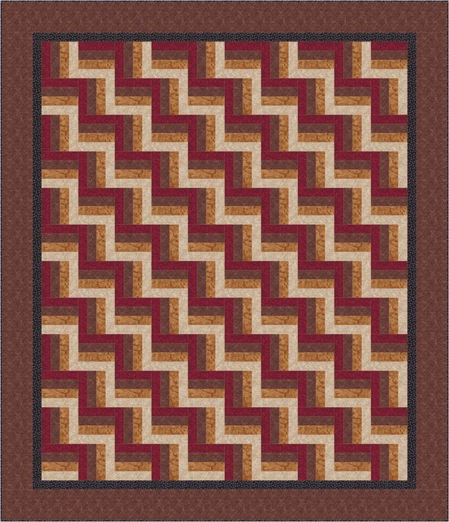 Rail fence quilt pattern designs / easy beginner quilt pattern.