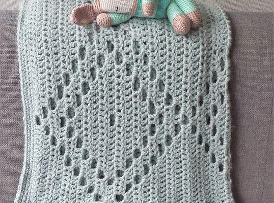 Filet Crochet Diamond Blanket Free Pattern