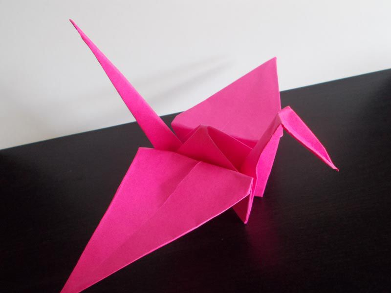 Traditional Origami Crane Instructions