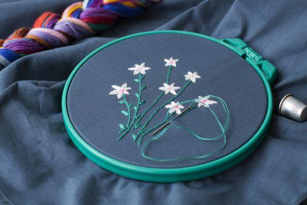 Embroidery stitch, needlework