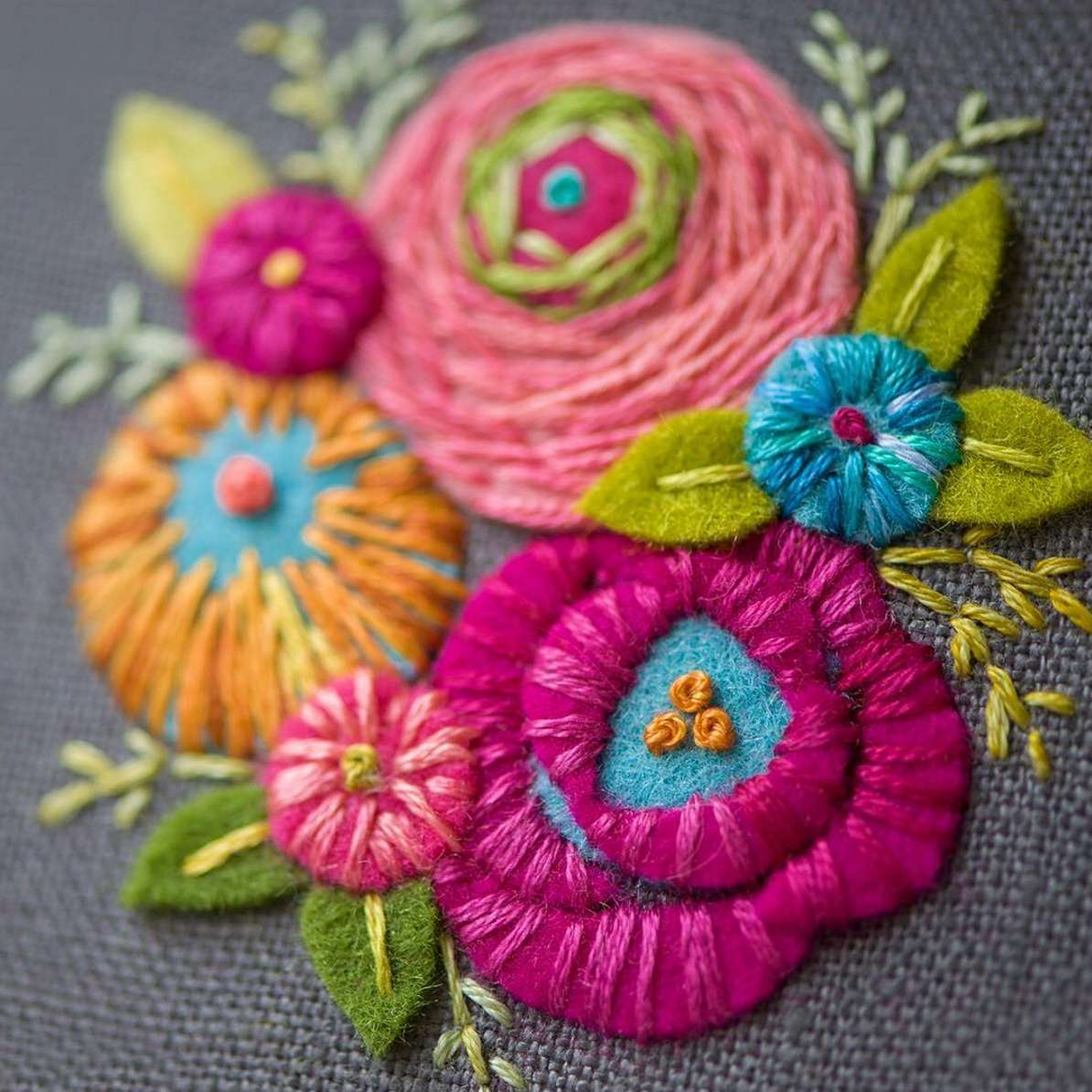 Felt Floral Displays
