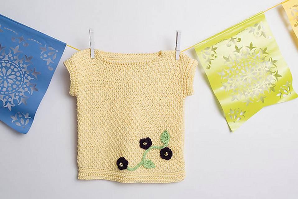 Tunisian Crochet T-Shirt Free Pattern
