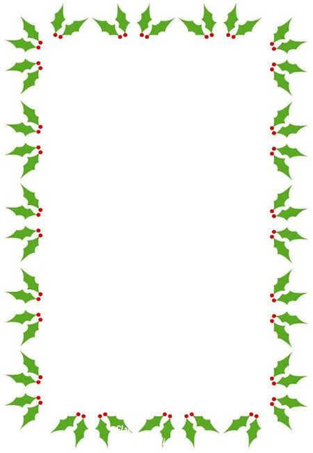 A Holly And Berry Christmas Border