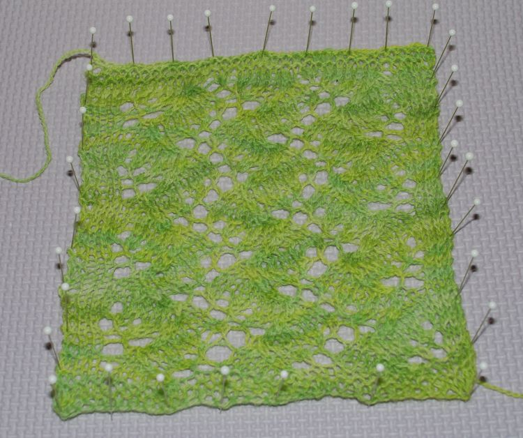 Blocked Lace Swatch