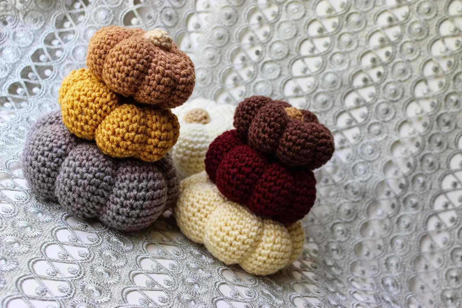 Set of Crochet Pumpkins