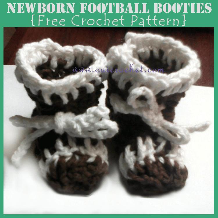 Football Crochet Booties free pattern