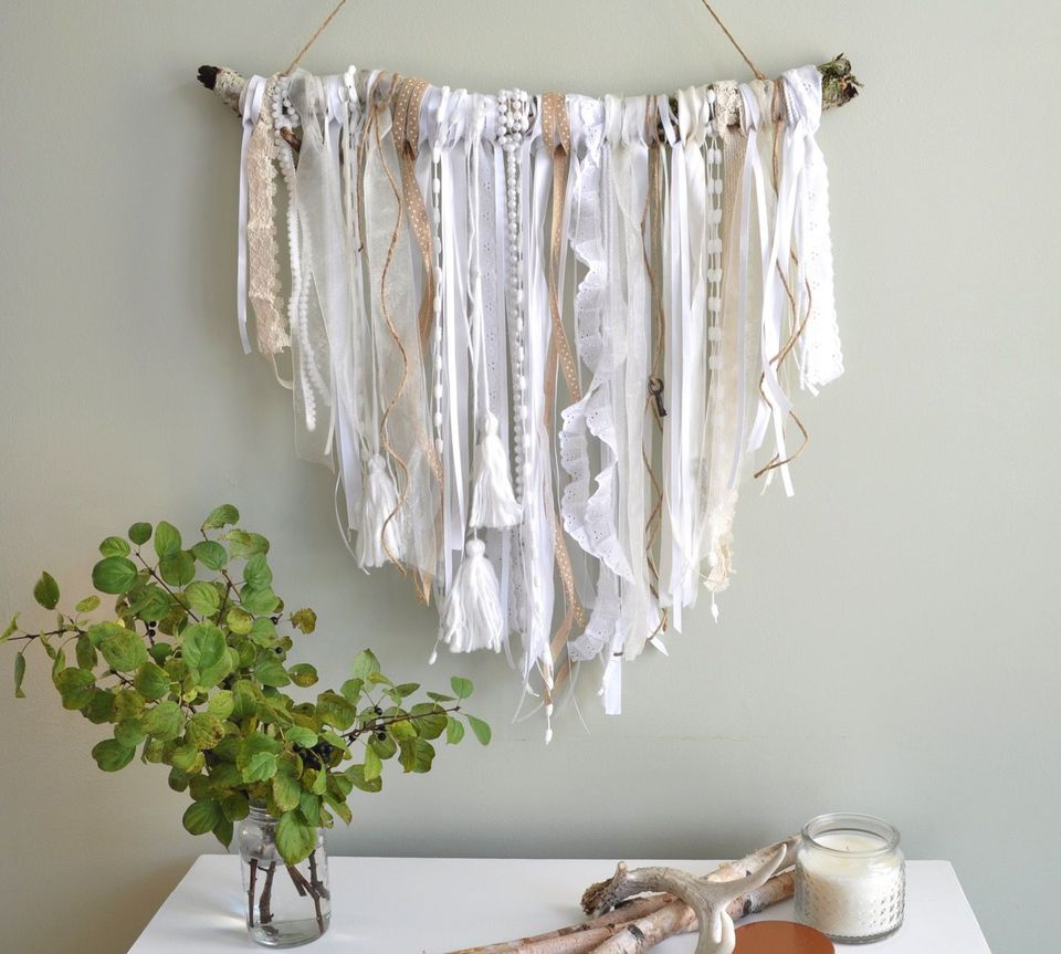 Ribbon wall hanging