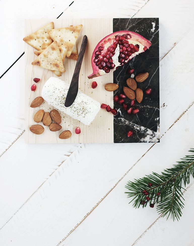DIY Marble And Wood Serving Tray