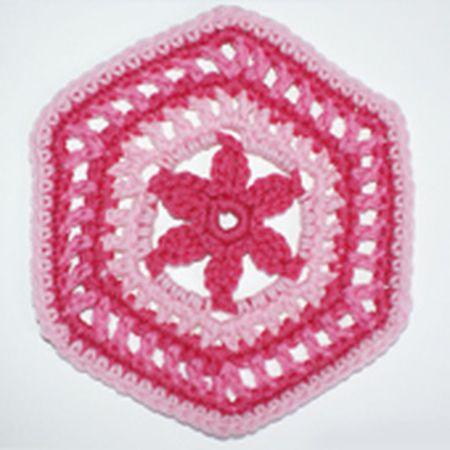 Floral Granny Hexagon Crochet Pattern