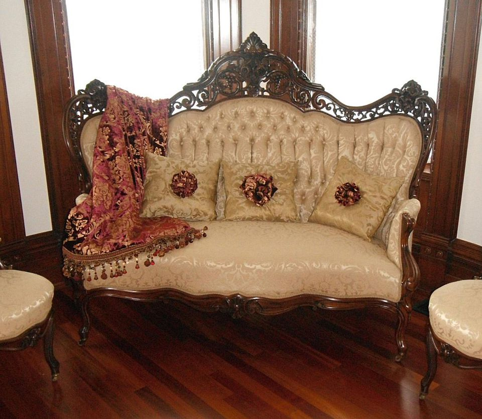 J&JW Meeks Parlor Set in The Queen Anne Mansion in Eureka Springs, Ark.