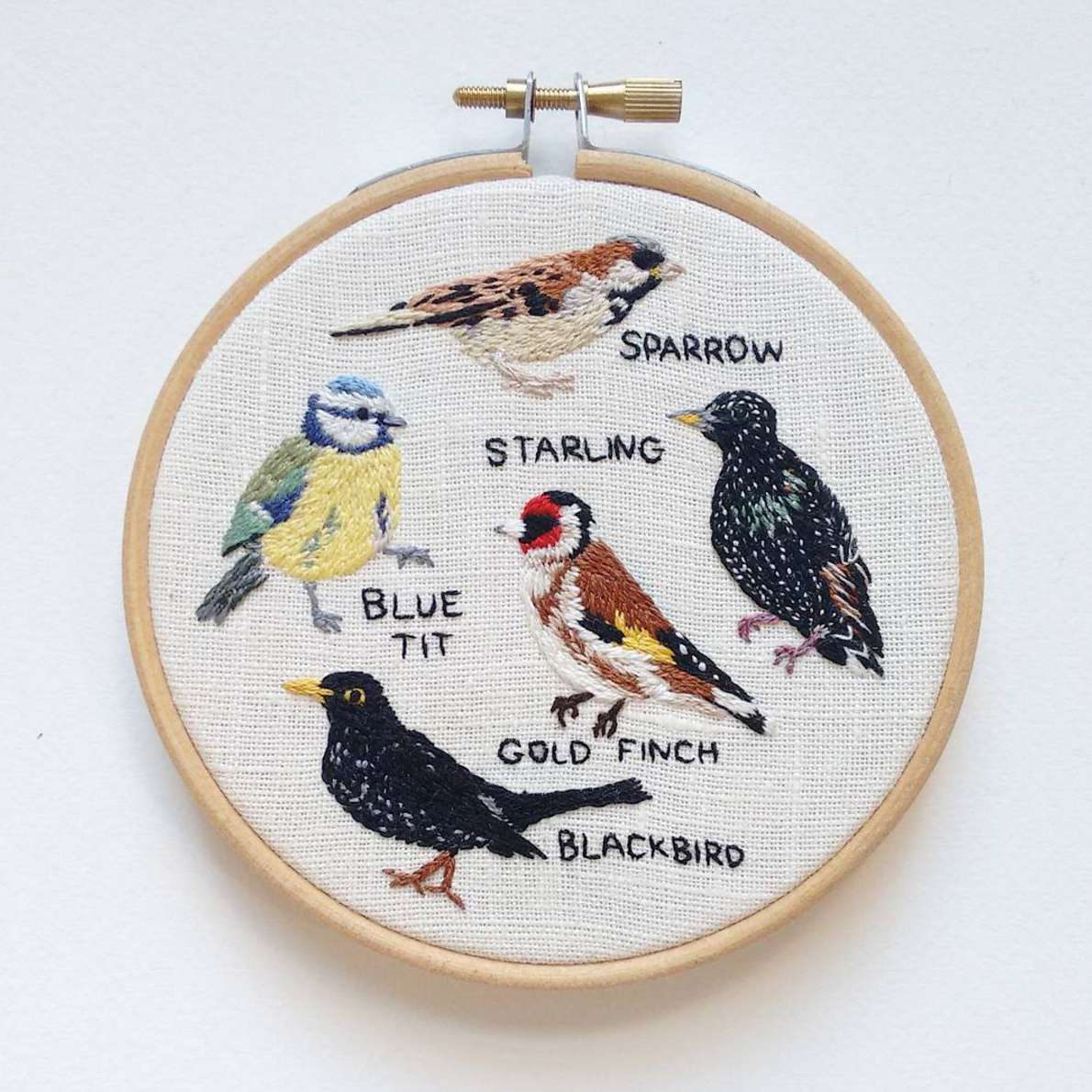 Detailed Nature Embroidery