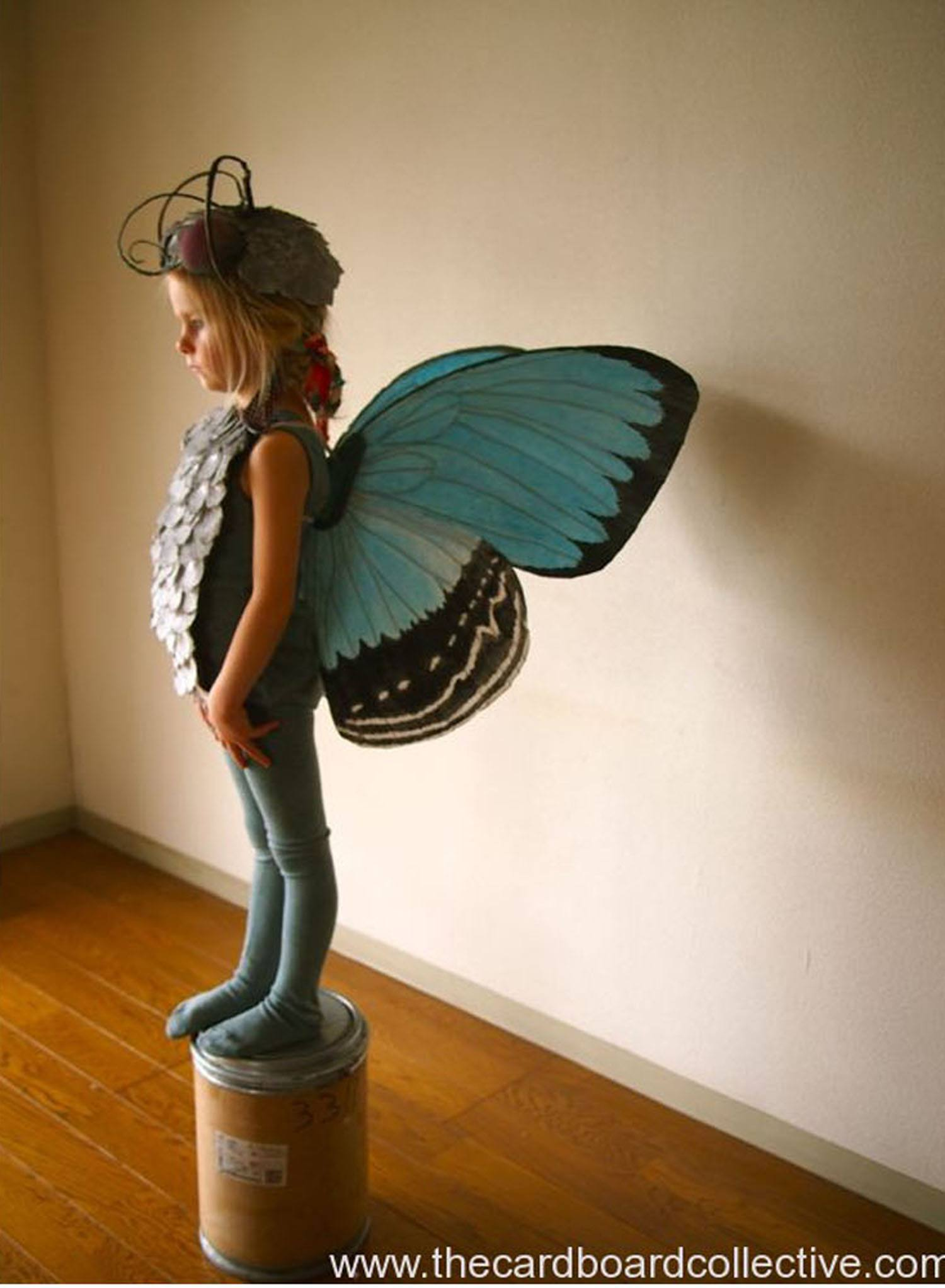 The Kids Made Their Own Cardboard Fairy Wings So Much Fun