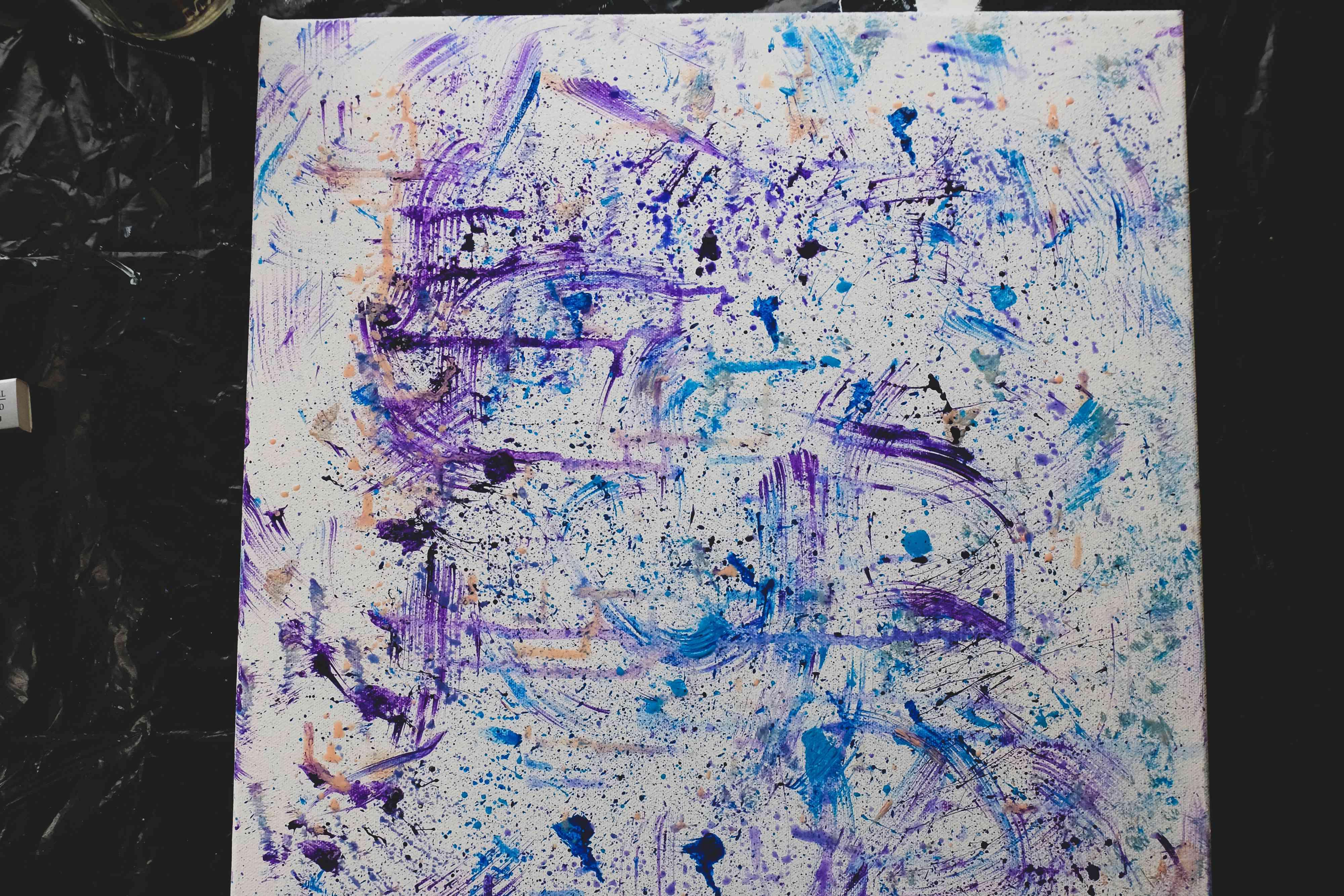 how to splatter paint