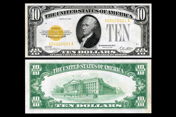 Series 1928 Ten Dollar Gold Certificate