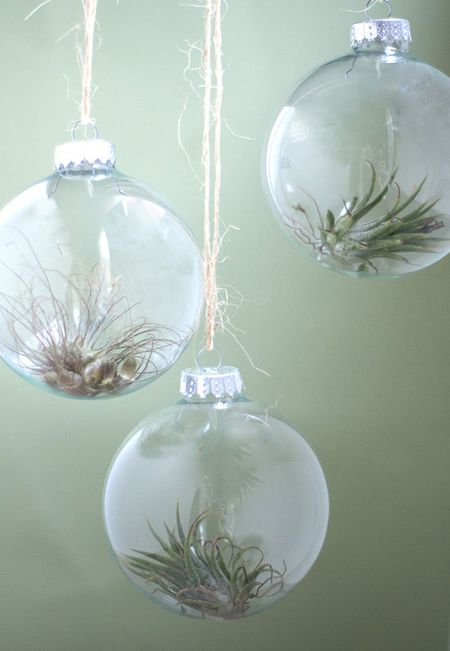 how to DIY clear glass ornaments - 10 Ways To Fill A Clear Glass Christmas Ornament