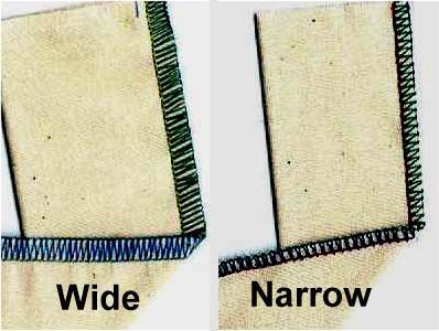 Three Thread Wide & Narrow Overlock Stitches