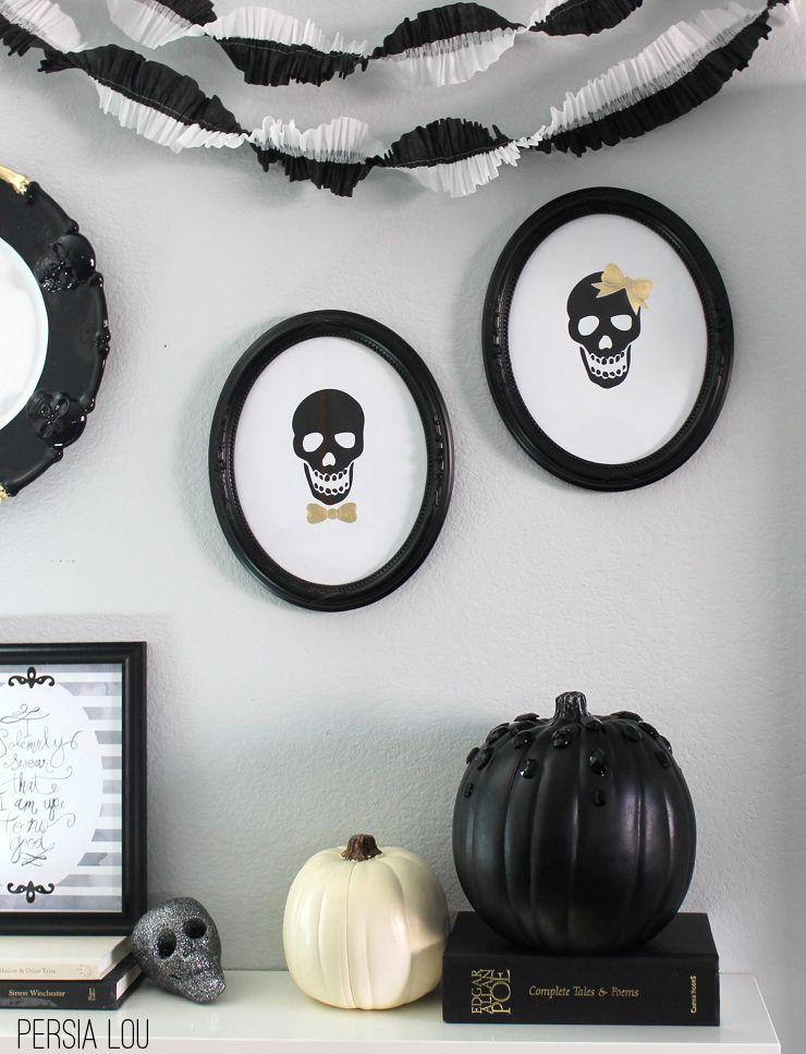 DIY Printable Skull Art