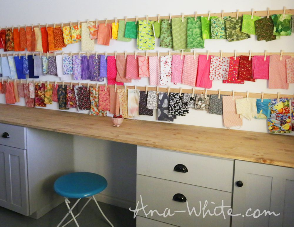 fabric storage from clothes pins