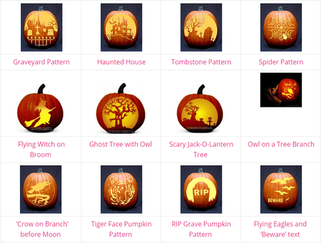 1643 pumpkin carving ideas stencils and patterns screenshot of pumpkin carving patterns at dot com women maxwellsz