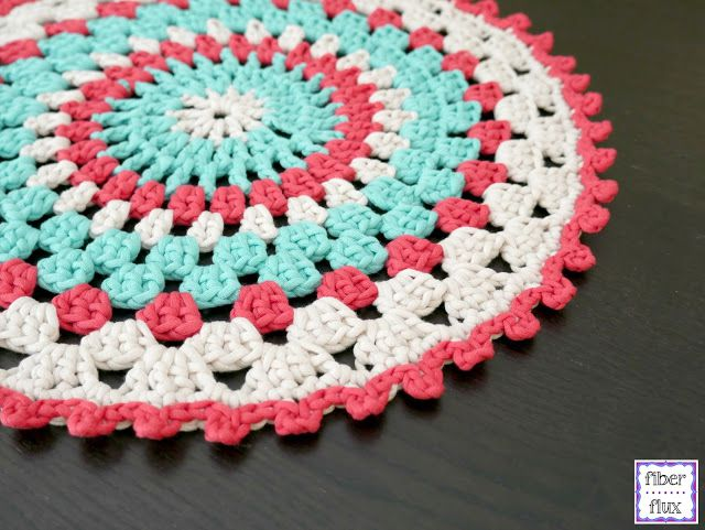 Coastal Placemat Free Crochet Pattern