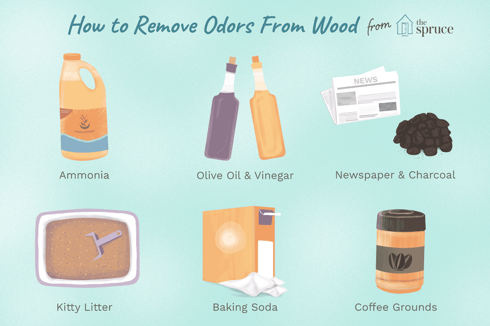illustration of ways to remove odor from wood