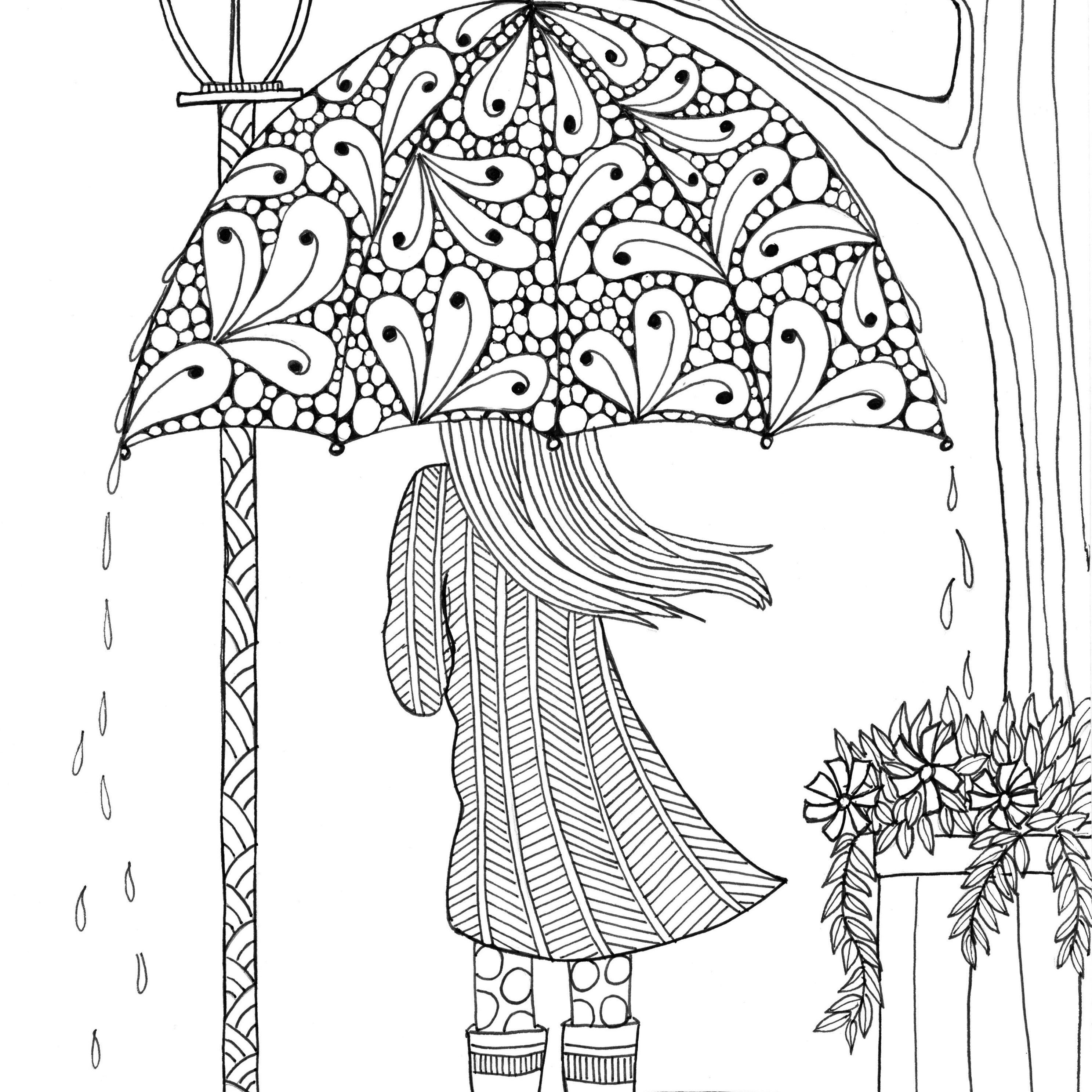Adult coloring pages from judy clement wall