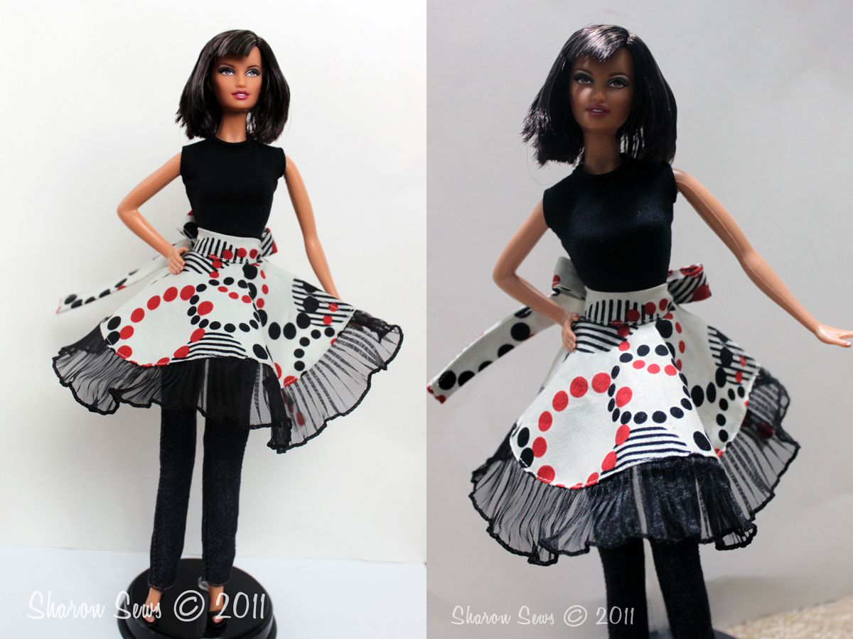 Circle Apron Pattern for Dolls