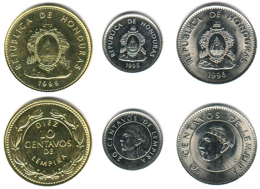 These coins are currently circulating in Honduras as money.