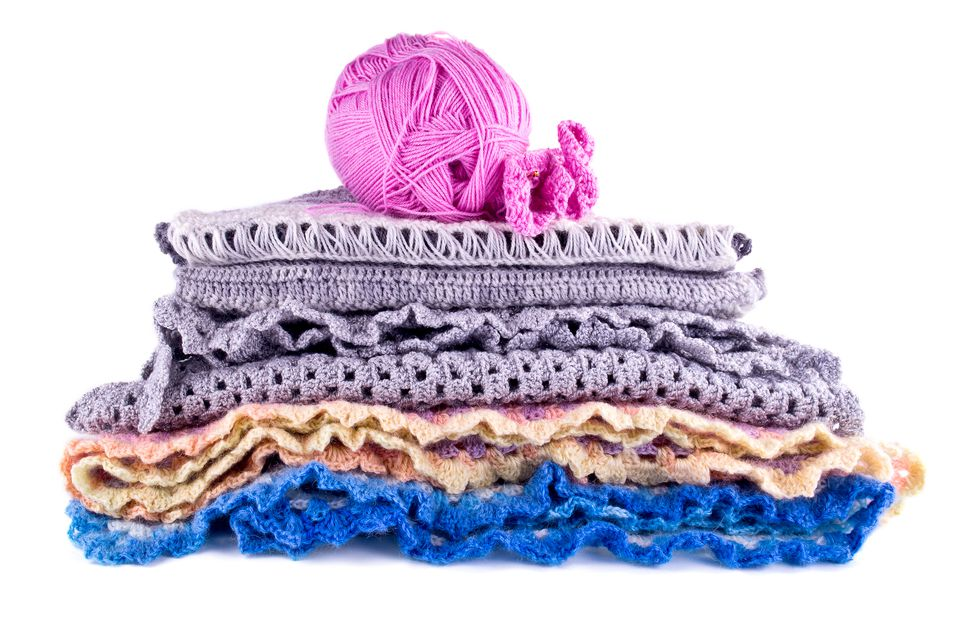 Crochet Stack and Yarn
