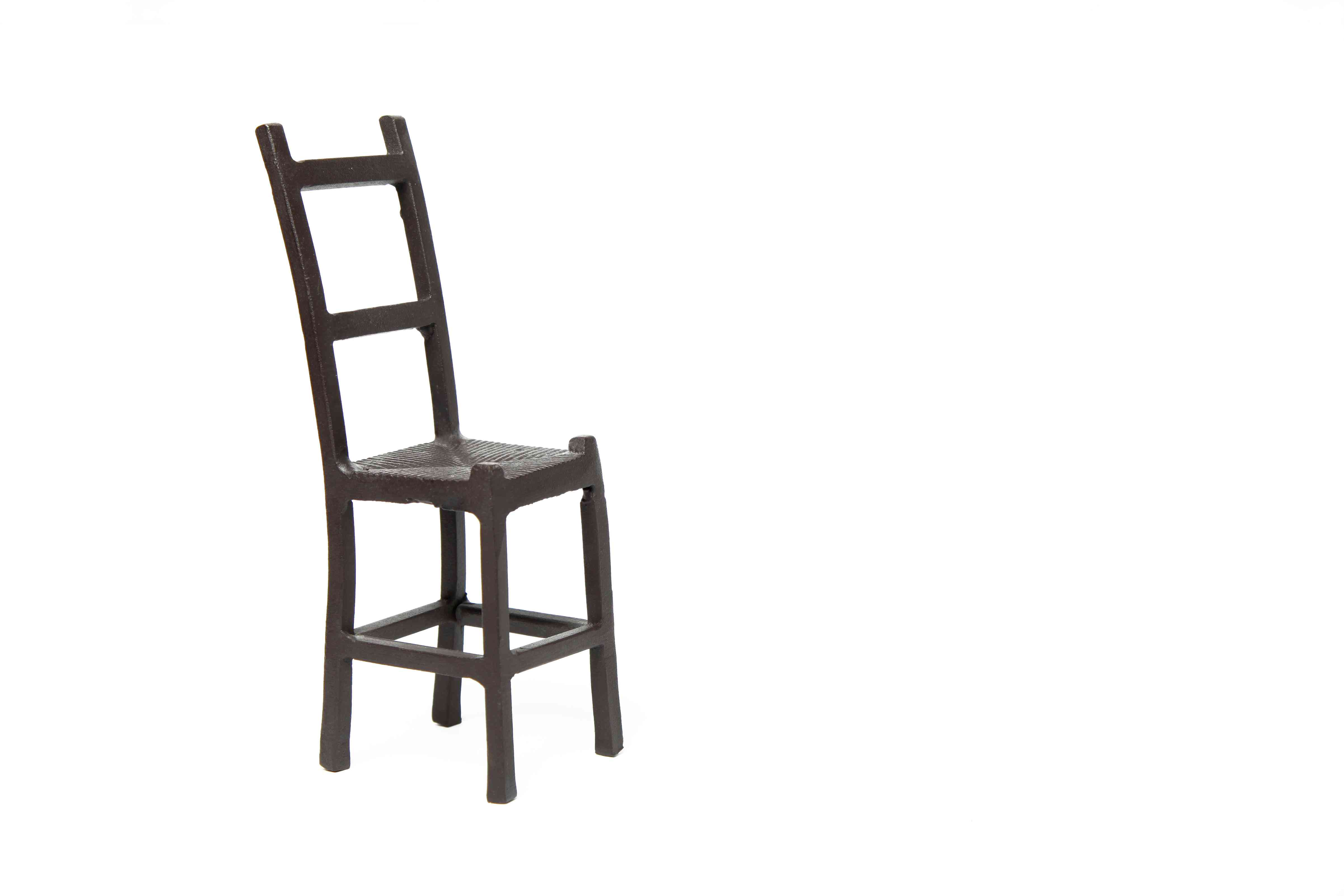 Isolated old shaker chair
