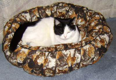 Pet Bed Made Using The Free Pet Bed Pattern