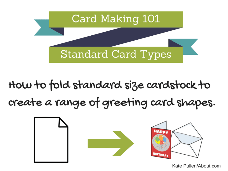 Learn how to fold paper to create a wide range of card styles