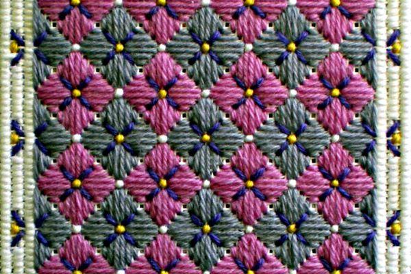 Stitched Hydrangea Needlepoint Project