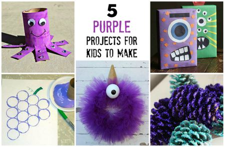 5 Purple Arts And Crafts Projects To Make With Kids