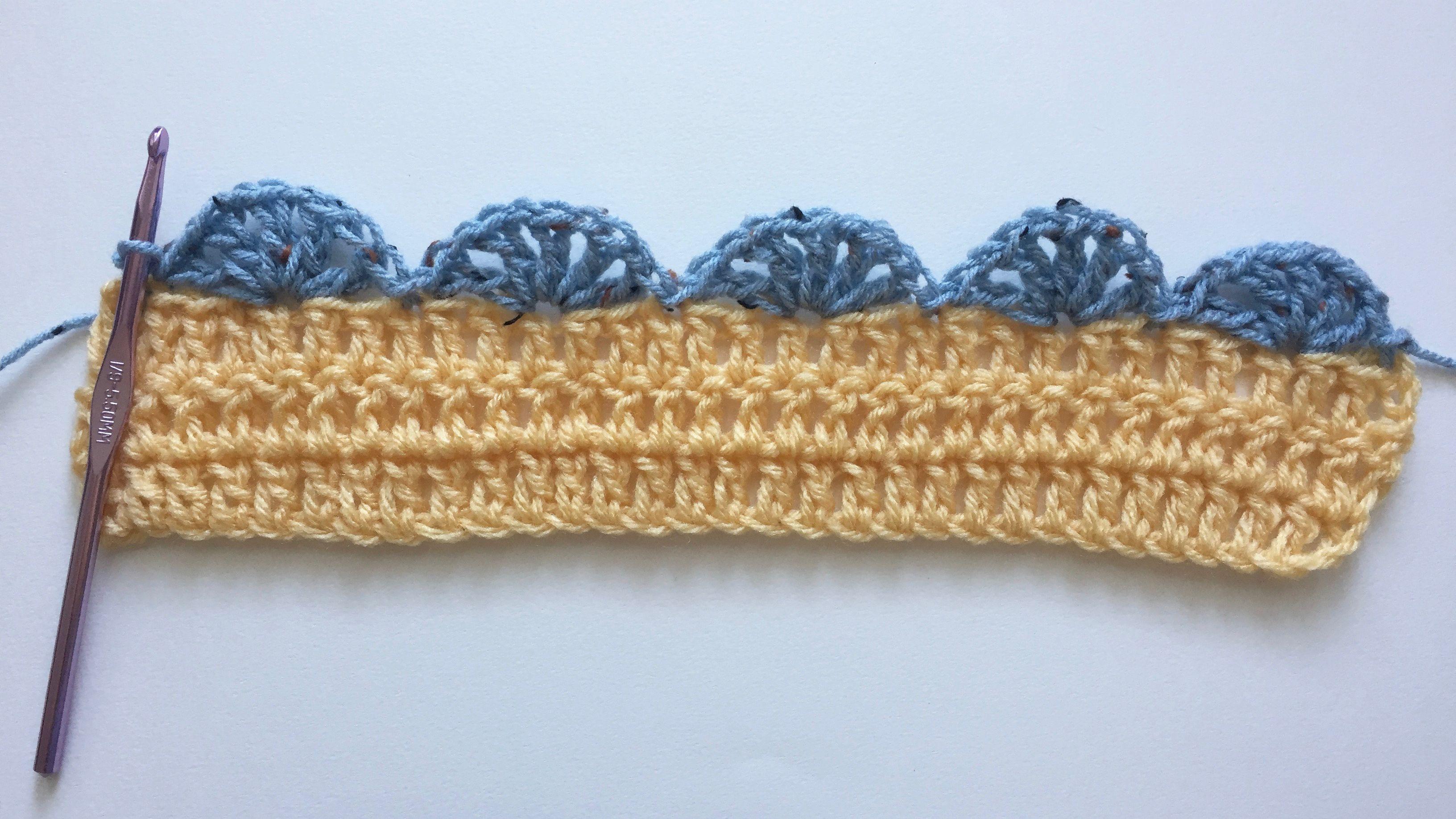 Simple Shell Stitch Crochet Edging Free Pattern
