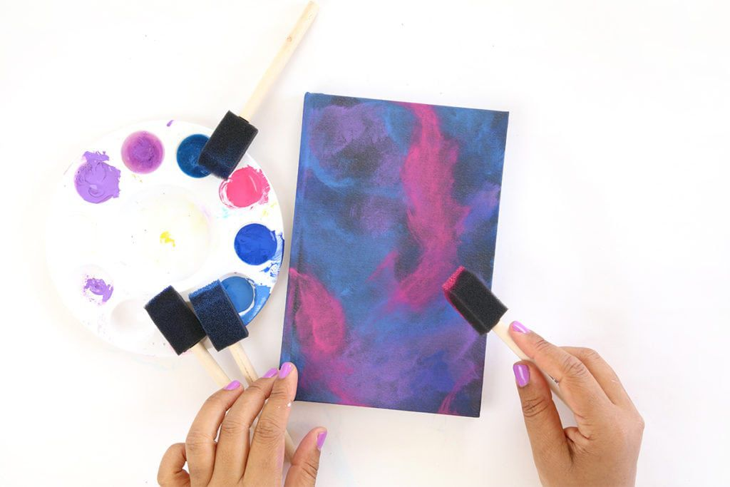 dabbing and sponging painting
