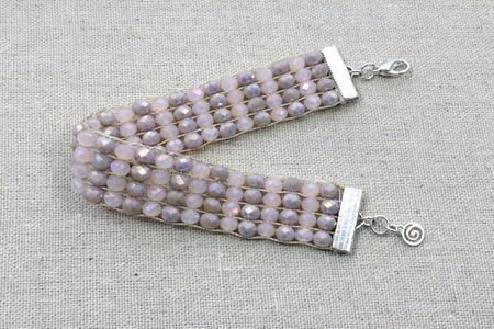 Weave A Crystal Bracelet On A Loom