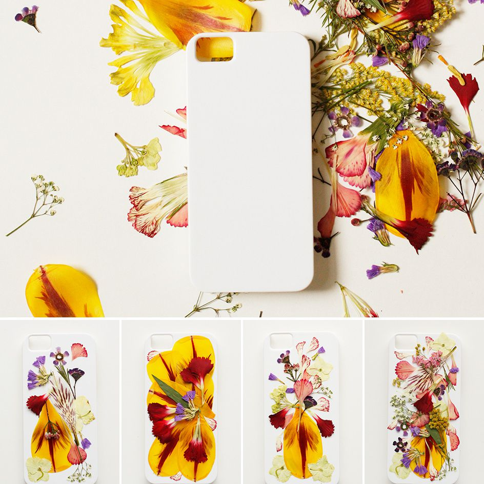 DIY Phone case with pressed flowers