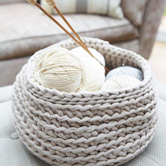yarn storage basket idea