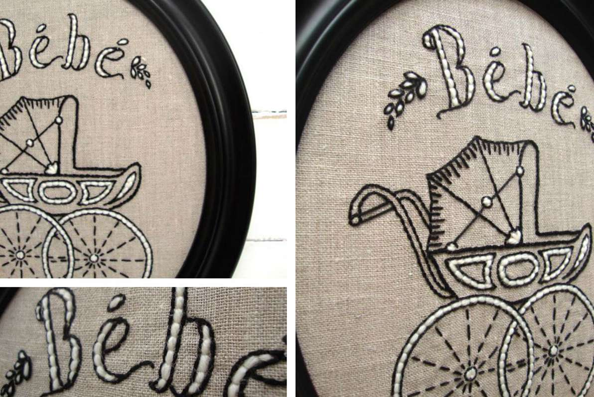 Pram Hand Embroidery Pattern