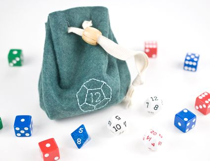 Embroidered Dice Bag