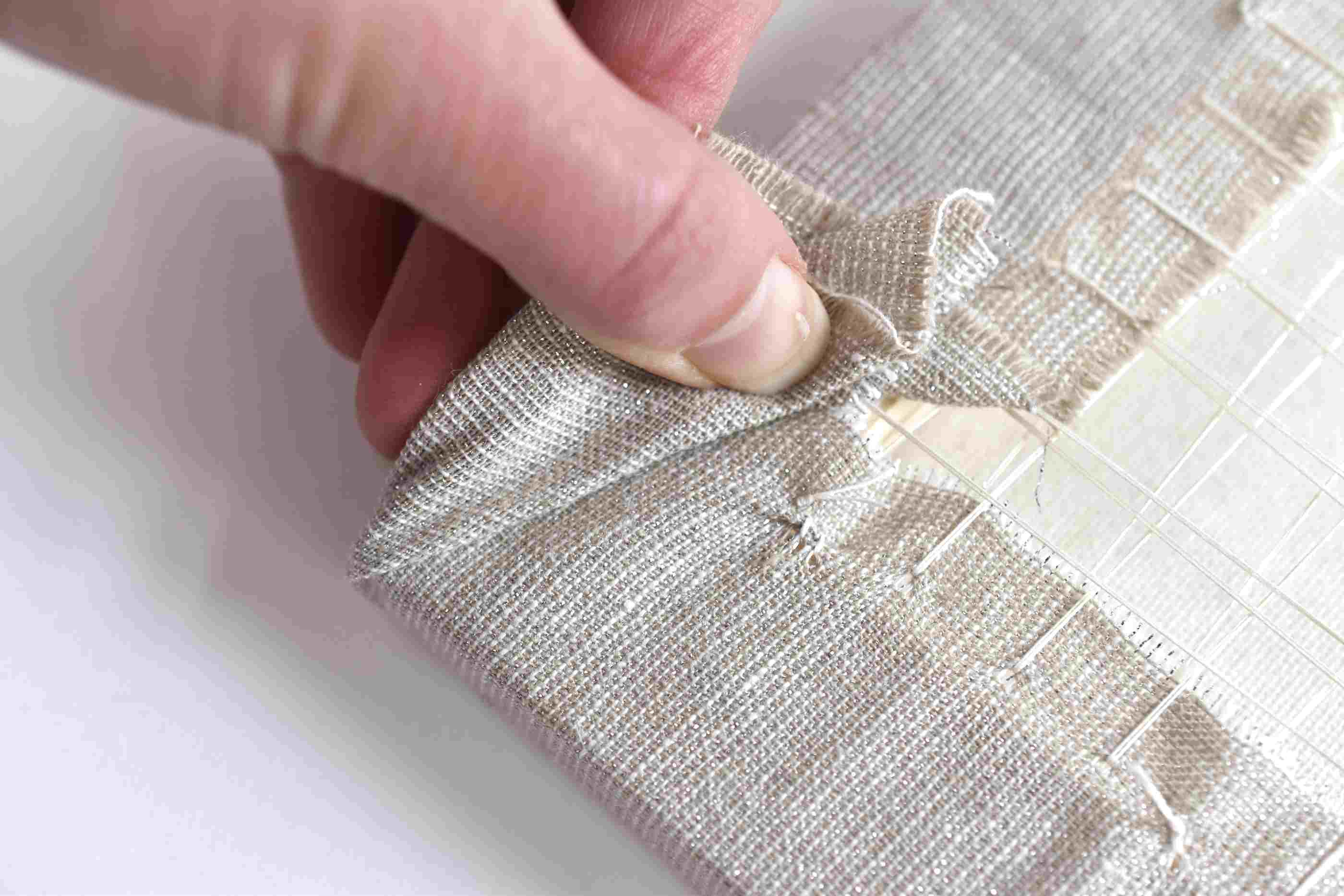 Fold the Embroidered Fabric Under
