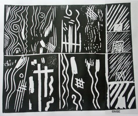 Markmaking with linocut tools